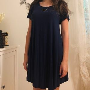 Navy Blue T-shirt Dress in size S
